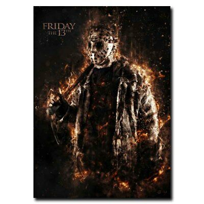 Friday The 13th Jason 24x16inch Horror Movie Silk Poster Hot Wall Decoration