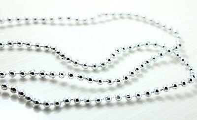 2-12yd 2mm sliver round bead thread sewing wedding trim fabric craft DIY L1473