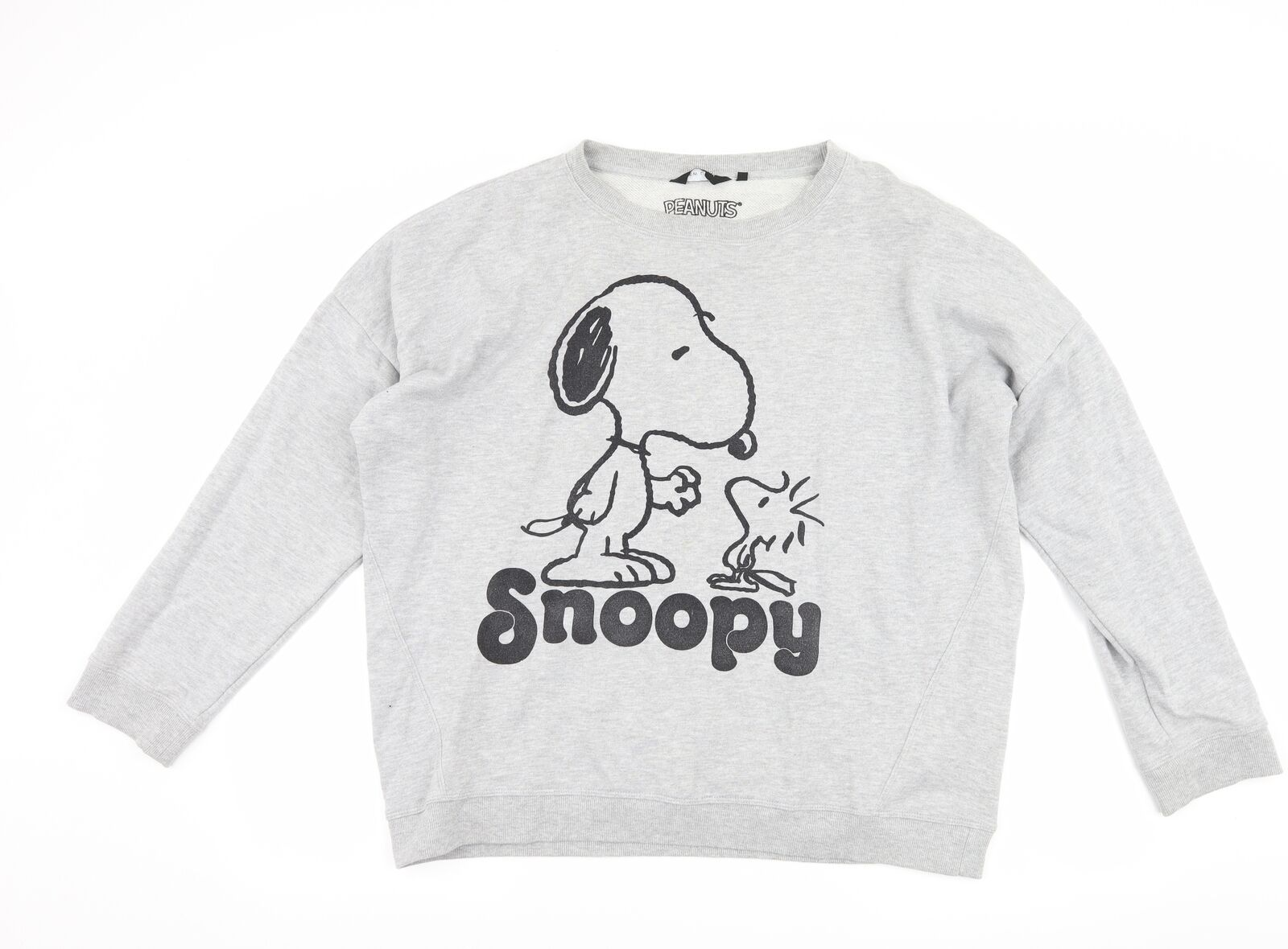 New Look Womens Grey Pullover Sweatshirt Size 18 - Snoopy