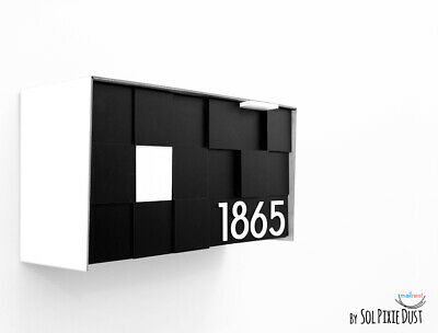 Number 6 Stainless Steel House Number Screw-On Adhesive Height 15.5cm House Number Design Door