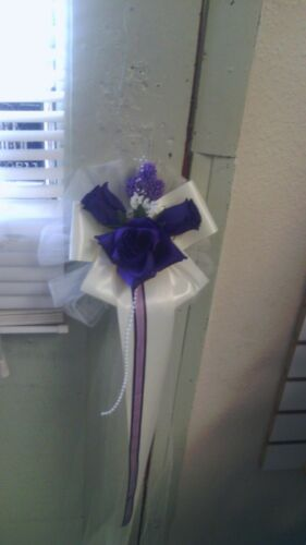 lav and white or any color you choose Sale Sale Sale 6 wedding pew bows purple