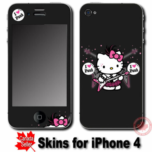 Hello Kitty Love Punk SKIN STICKER COVER for iPhone 4