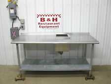 72 X 30 Stainless Steel Blender Station Work Table Insulated Ice Well Box 6