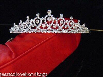 UK- Quality Crystal Bridal Tiara Wedding Prom Crown Gift Sparkling sj2165