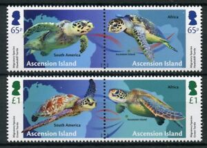 Isla-Ascension-2018-estampillada-sin-montar-o-nunca-montada-especies-migratorias-tortugas-4v-Set