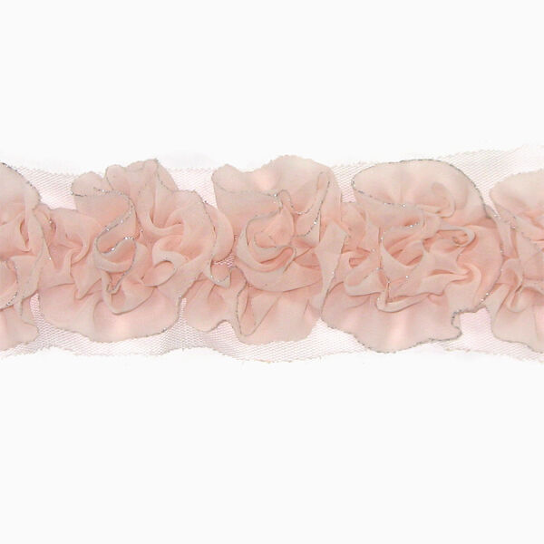Flower Chiffon Ruffled Trim 14 - Women Girls Hair Accessories Clips Headbands