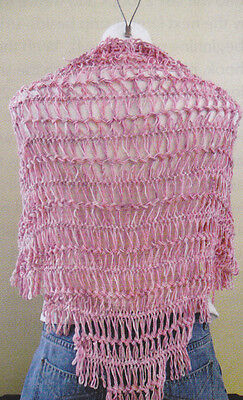 Pink Silk Scarf Cavendish Crochet Pattern//Instructions Leaflet NEW