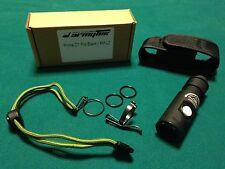 ArmyTek Prime C1 Pro Black XM-L2 400 OTF Lumen Flashlight, Holster, Lanyard
