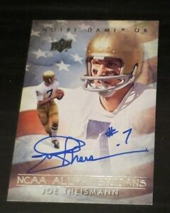 Joe Theismann signed autographed card Quarterback Washington Redskins Notre Dame
