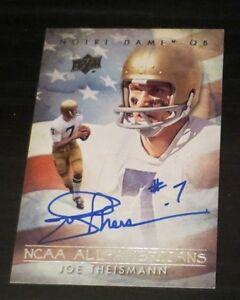 Joe Theismann signed autographed card Quarterback Washington Redskins Notre Dame
