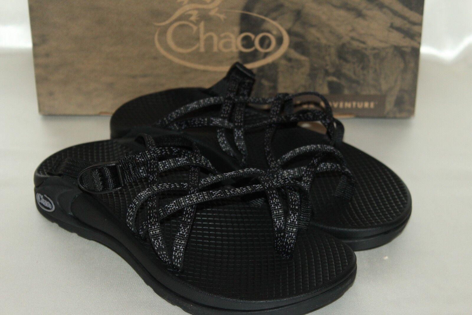 NEW CHACO VIBRAM Black Nylon ZONG X Ecotread Sport Athletic Toe Loop Sandal Sz 5