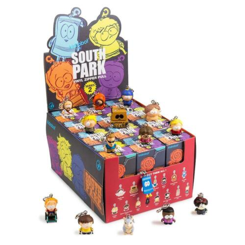 South Park Zipper Pulls Series 2 New Display Case 24 Blind Boxes by Kidrobot