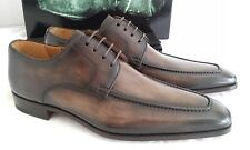 Magnanni Brown Burnished Leather Derby Shoes EU 42 Uk 8.5 Made in Spain
