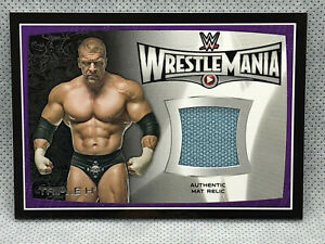 2015-Topps-WWE-Road-To-Wrestlemania-Triple-H-Mat-Relic-Card-The-Game-DX-HHH-Raw