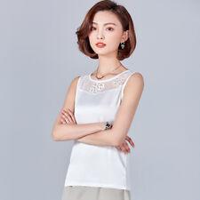 2b5d08ed3155e4 item 3 Women Satin Shirt Lace Floral Tops Faux Silk Vest Camisole  Sleeveless Tank Top -Women Satin Shirt Lace Floral Tops Faux Silk Vest  Camisole Sleeveless ...