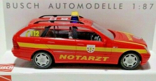 OVP Modellauto Busch 49154 Mercedes C-Klasse T-Modell Notarzt 1//87 H0 Neu