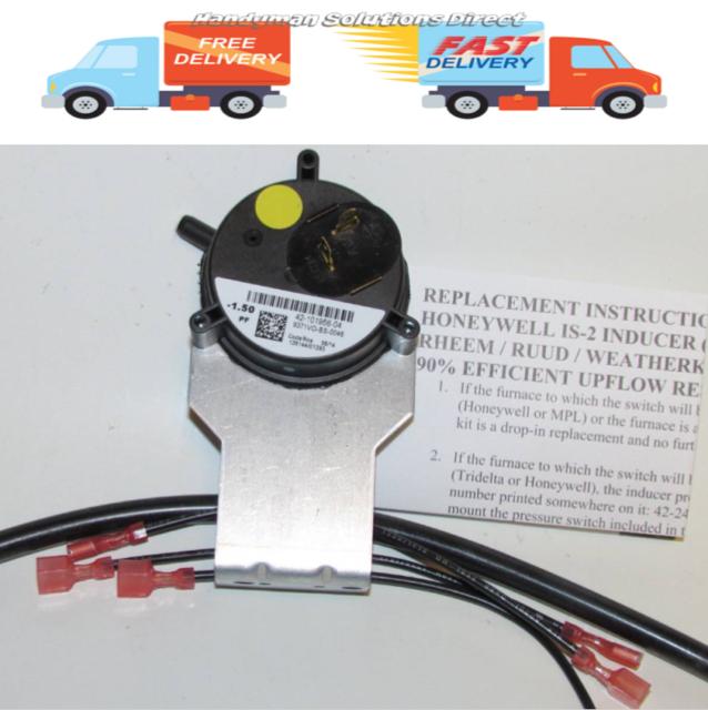Rheem OEM Furnace Replacement Air Pressure Switch 42-101956-04