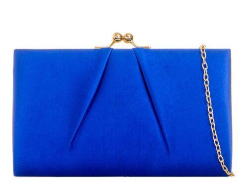 Ladies Satin Ball Clasp Clutch Bag Cocktail Bag Party Season Purse Handbag KL761
