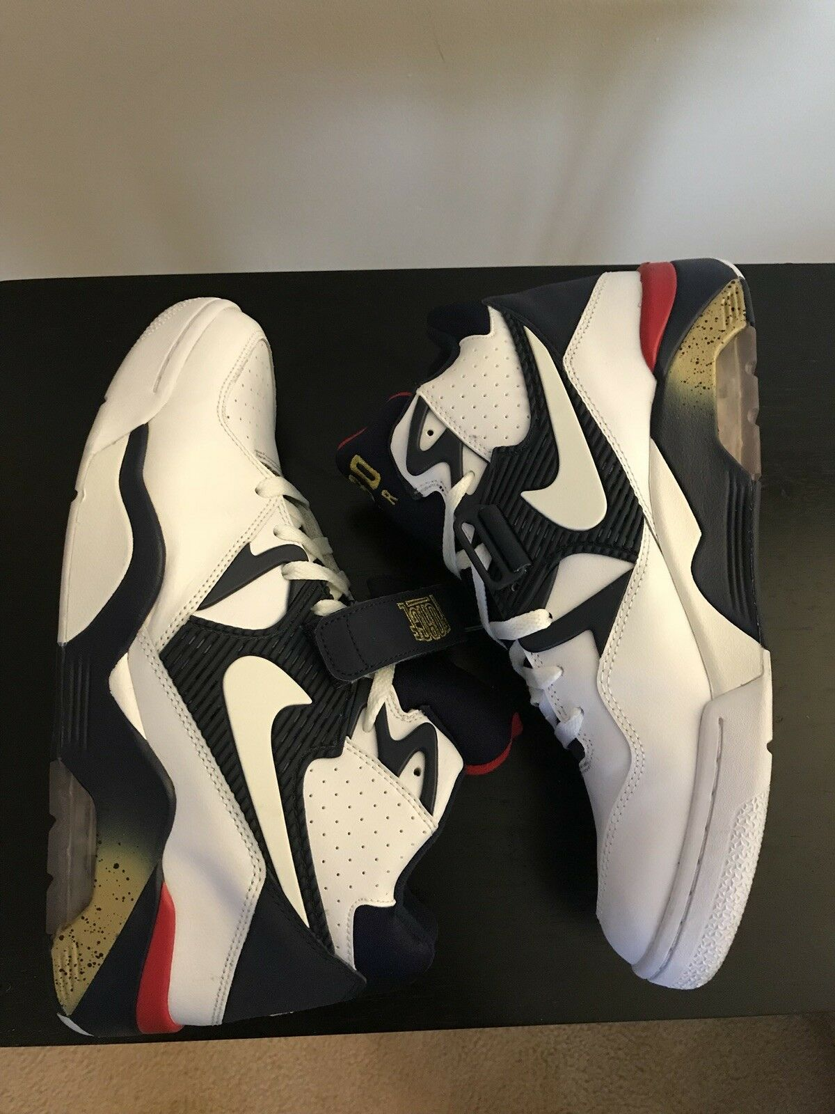 Nike Air Force 180 Olympic Barkley White bluee Red gold 310095-100 Size 10.5