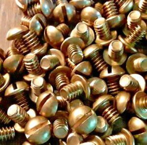 1//4-20 X 1 1//2 Slotted Round Machine Screw Brass Package Qty 100