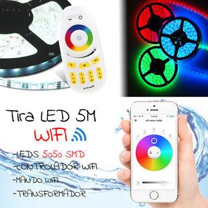 TIRA-DE-LED-5M-PACK-tira-led-3528-5050-SMD-RGB-5M-mando-grande-y-pequeno-WIFI