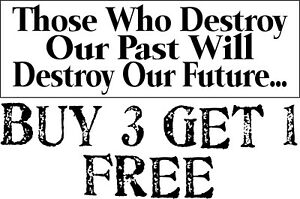 "Conservative GOP Pro History Anti Liberal Political Bumper Sticker 8.7"" x 3"""