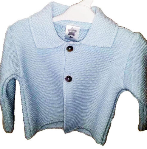 Ivory Colour 3-24 Months Blue Baby Boy// Girl Knitted Cardigan Pink