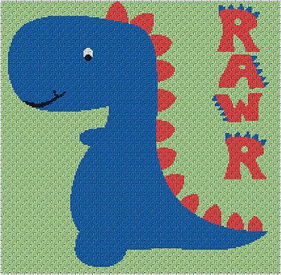 Cool Zig Zag Blanket C2C Graphghan Crochet Pattern