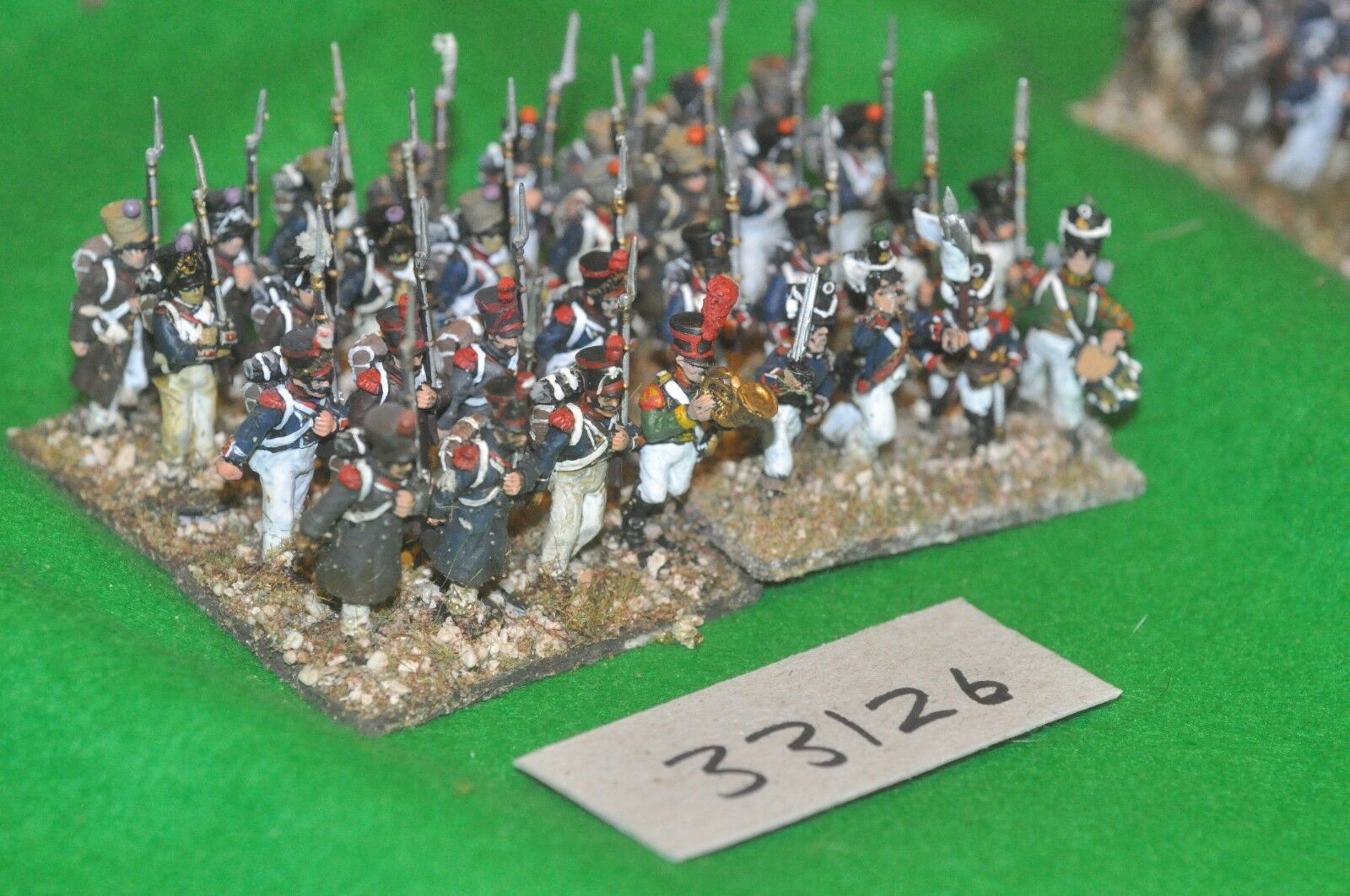 25mm napoleonic   french - regt 32 (plastic) figures - inf (33126)