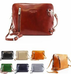 90e07215273 VERA PELLE Italy Genuine Leather Cross Body Bags Great Brand Across ...