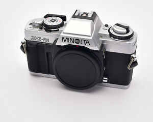 Minolta-XG-M-silber-35mm-SLR-Film-Kamera-Body-mit-Body-Cap-4099