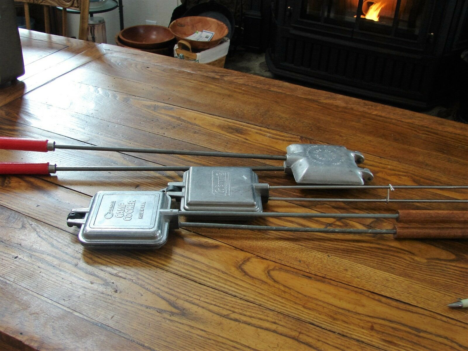 Lot of 3 Camp Cookers Sandwich Toasters