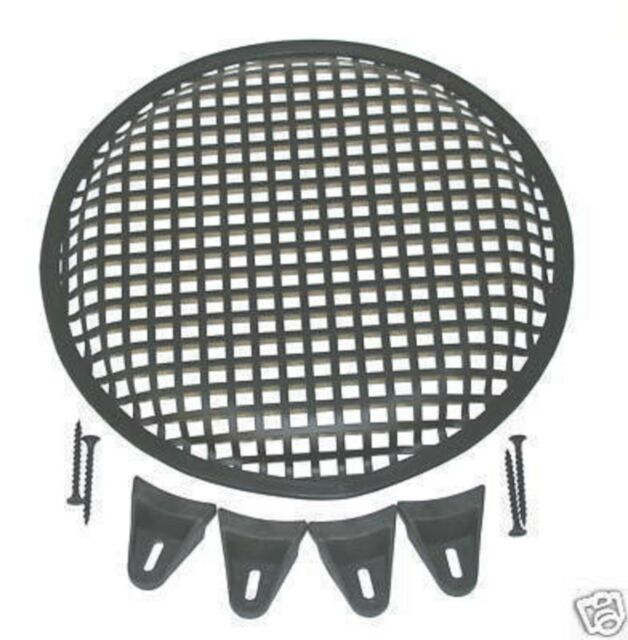 Universal Speaker Cover Guard 2 Pairs 15 Inch Subwoofer Metal Waffle Grills