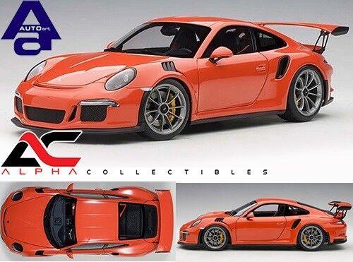 en promociones de estadios Autoart 78168 1 18 Porsche 911 911 911 (991) GT3 RS (Lava Naranja gris Oscuro ruedas  moda clasica