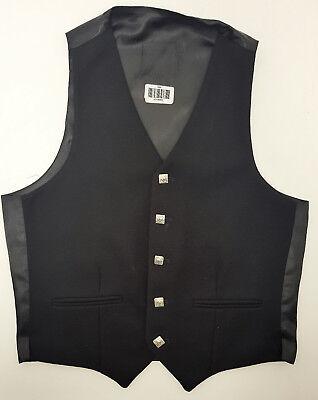Ehrlichkeit Ex Hire A1 Condition Black Wool Argyll Waistcoat Vest 4 Kilts Sale 34,36,38,40 Entlastung Von Hitze Und Sonnenstich