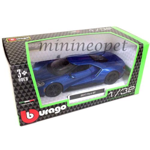 BBURAGO 18-43043 2017 FORD GT 1//32 DIECAST MODEL CAR BLUE