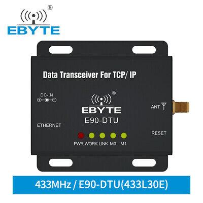 E90-DTU-433L30E 433MHz Lora 30dBm Ethernet Wireless Transceiver RJ45 RF Module