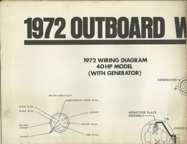 Johnson Marine Boat 1972 Outboard Wiring Diagrams 40 Hp 50