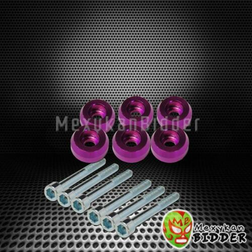 Purple Rear Lower Control Arm LCA Dress Up Washer Bolt Kit For 88-95 Civic EF EG