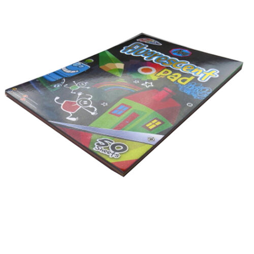 Papers in 5 Colours 50 Sheets = 100 Pages A4 Children's Fluorescent Art Pad