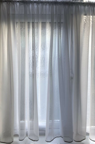"""36/"""" - 90/"""" Simple Modern Plain Voile Curtains MADE TO MEASURE"""