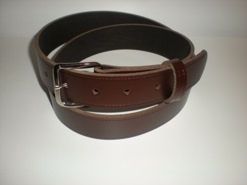 Brown leather belts suitable for men and women from small to XX large sizes 32mm