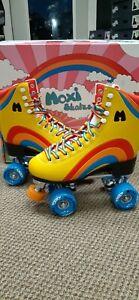 3 Children/'s Kid/'s Brand New Moxi Rainbow Rider Roller Skates Yellow Size Jr