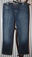 Joe's Jeans Jeans Pants Distressed Medium Blue Denim Cropped Fit SZ 30 x 29