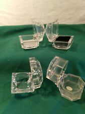 Lot Of 4 Vintage Clear Faceted Lucite Ringearring Jewelry Boxes