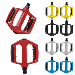 BICYCLE-MOUNTAIN-MTB-BMX-BIKE-CYCLING-BEARING-ALLOY-FLAT-PLATFROM-PEDALS-9-16
