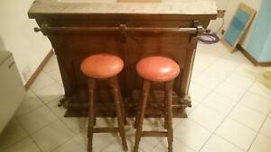 Mobile bar per taverna in legno massiccio con sgabelli ebay