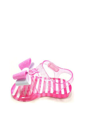 Wonder Nation Girls//Women Jelly Sandals Size 4 Clear Pink Slip On NEW