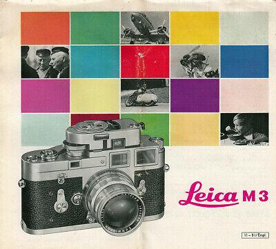 Agresivo Leitz Folleto/brochure Para Leica M 3-english Intructions - 11-8i