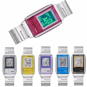Men-Women-Waterproof-Quartz-Stainless-Steel-LED-Sport-Square-Digital-Wrist-Watch